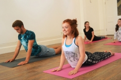 teen yoga class in stroud learning cobra