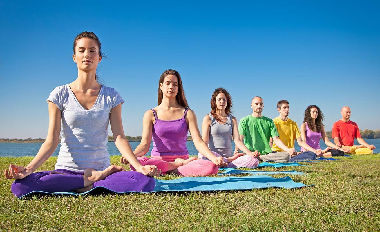 yoga line colourful